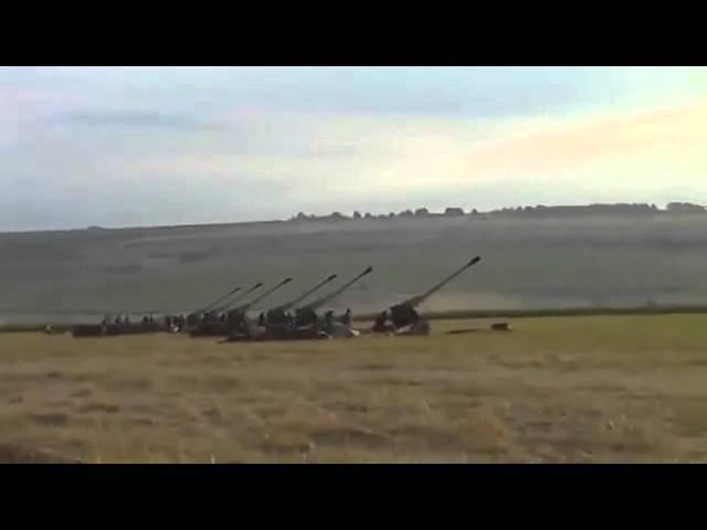Как это было .... 23.07.2014 Артиллерия ВСУ освобождает город Лисичанск .....