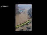 Затопления на севере Китая