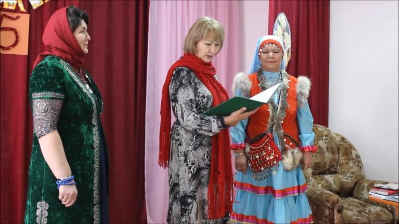 Нәфисә Тулыбаева Ғафуриҙә Ватан ауылында.