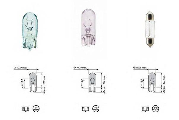 Лампа накаливания, задний гарабитный огонь; Лампа накаливания, внутренее освещение; Лампа накаливания для AUDI R8 Spyder