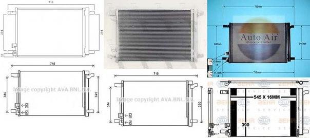 Конденсатор, кондиционер для AUDI TT купе (FV3)