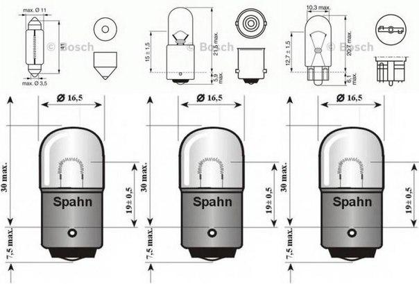 Лампа накаливания, задний гарабитный огонь; Лампа накаливания для AUDI V8 (44_, 4C_)