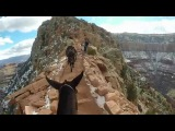 Grand Canyon Mule Ride (scary part) GoPro Jan 2014
