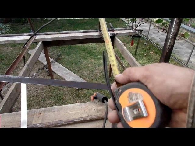 Как я сделал стеллаж из бэушного металла своими руками на даче