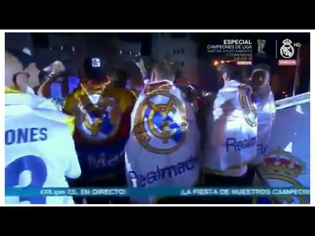 Игроки Реала и болельщики передали привет Пике