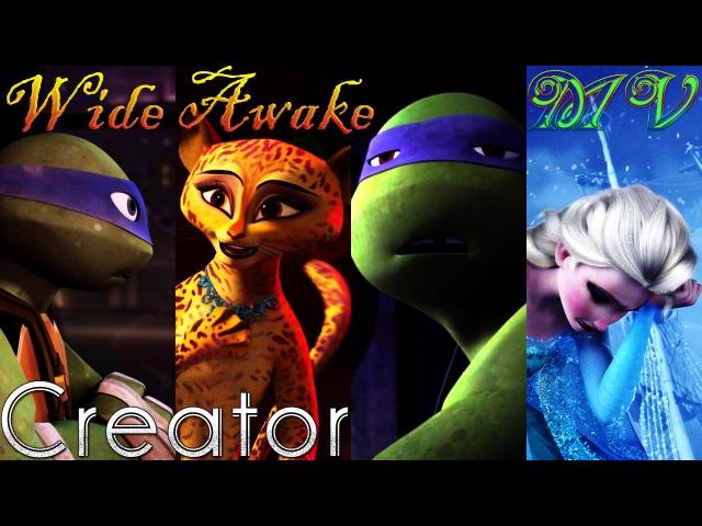 [RE-UPLOAD] Wide Awake - Madagascar/FROZEN/TMNT 2012 (Red Mix) MV ♫