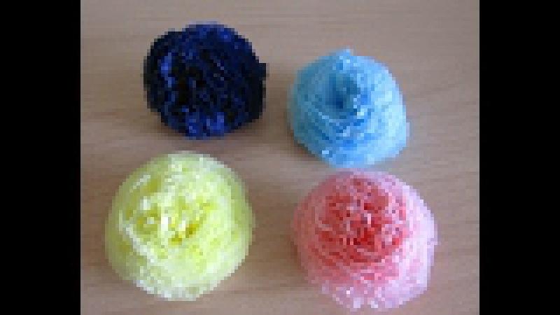 Цветы из салфеток для объемной цифры вариант 1
