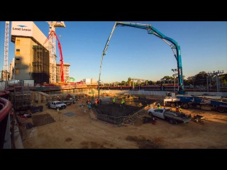 Health Innovation Building timelapse - Pouring of the Slab