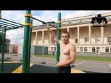 Тренировка мышц спины на турниках и брусьях