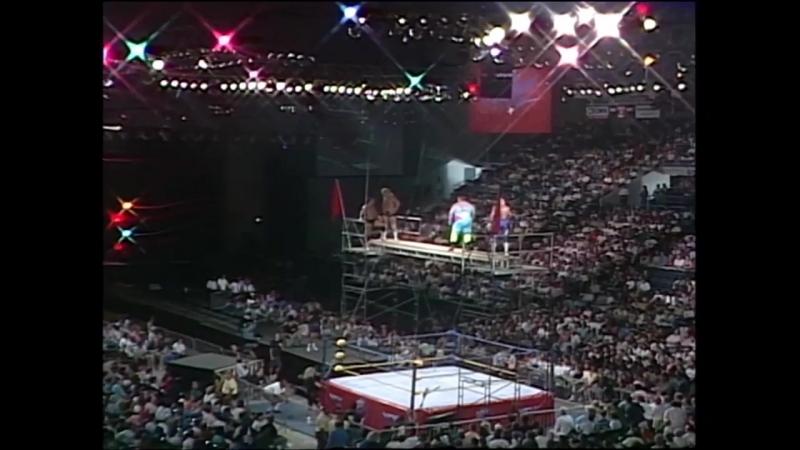 [My1] (-***1/2 ) Bobby Eaton P. N. News vs. Steve Austin Terrance Taylor (WCW The Great American Bash 1991)