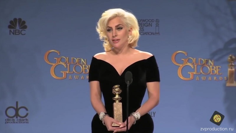 ЛEДИ ГАГА на вручении награды Золотой Глобус 2016