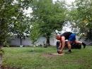 Подъем с полалевой рукой гиря 24 кг на одной ноге