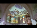 Собор Петра и Павла. Концерт орган, саксофон, дудук. Картины Поля Сезана песком под куполом храма.