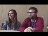 Comic-Con | Фиби и Дэниел Гиллис дают интервью (отрывок из него)