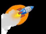 Футаж ракета, космос
