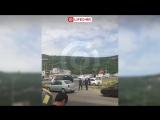 Первое видео с места ДТП в Пятигорске, где погибли трое человек, 8 раненых