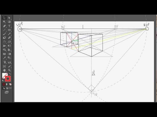 How to draw a perfect cube in 2pt perspective