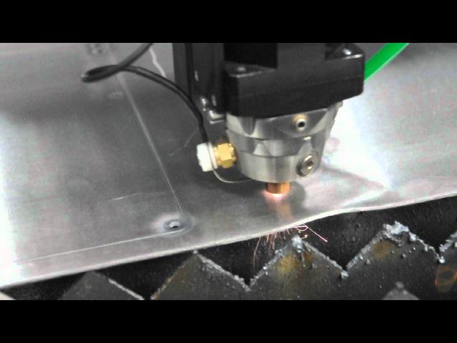 Резка алюминия волоконным лазером