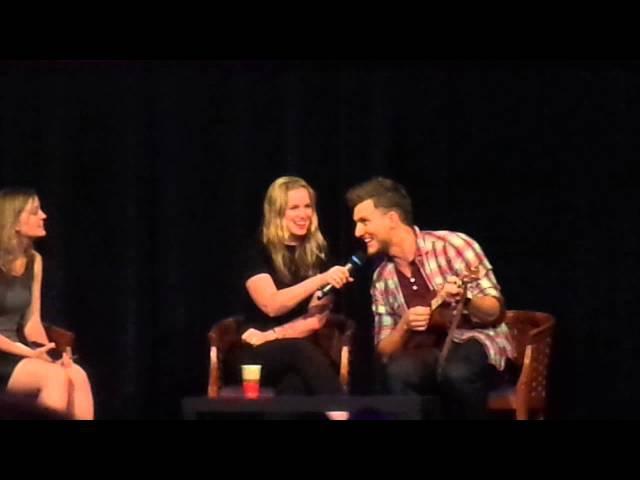 QA with Scott M. Foster Elizabeth Lail - Fairy Tales III in Paris - 21.06.15