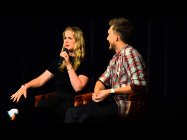 Elizabeth Lail Scott Michael Foster talk about their first scene with Lana/Regina