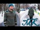 Как вязать уютный свитер с рукавом погоном спицами ☼ ВЯЗАНИЕ СПИЦАМИ ☼ МК свите...