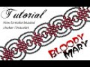 Tutorial beaded choker Bloody Mary / Чокер из бисера в готическом стиле Кровавая Мэри