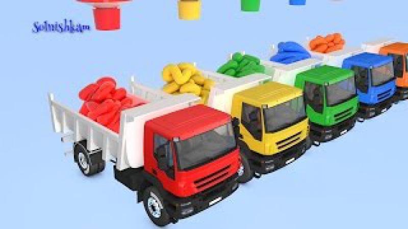 Мультик про машинки Учим цвета Learn colors Развивающий мультик для детей