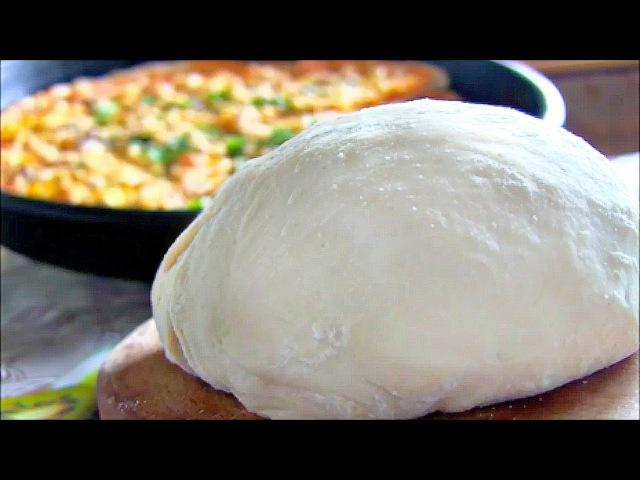 Бездрожжевое тесто для пиццы в домашних условиях