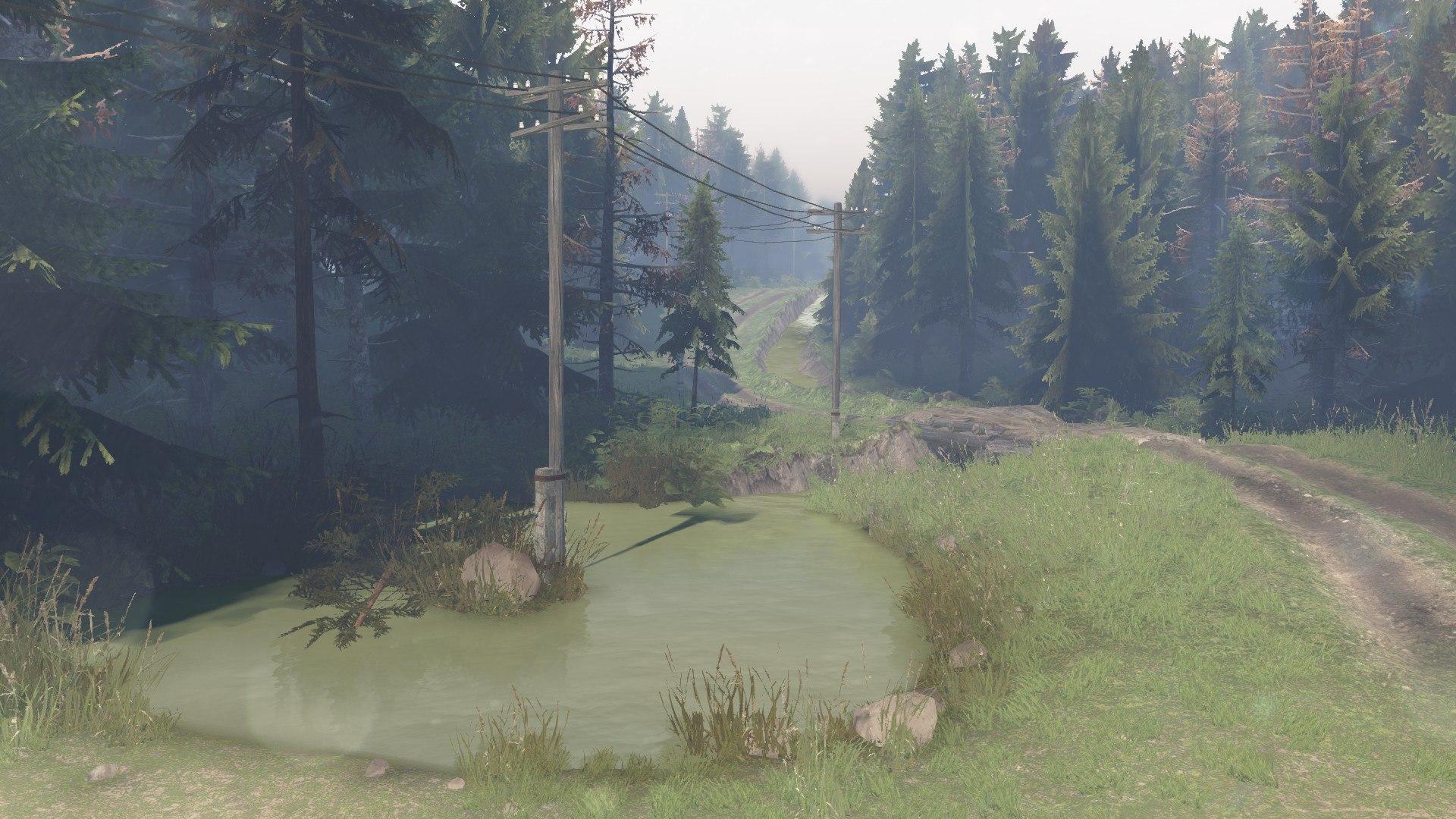Карта «Сосновый бор 2» для 03.03.16 для Spintires - Скриншот 1