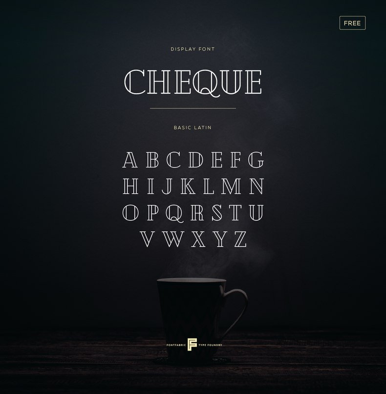 Download Cheque font (typeface)