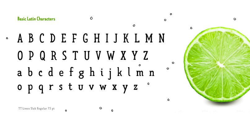 Download TT Limes Slab Regular font (typeface)