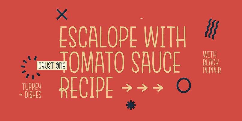 Escalope шрифт скачать бесплатно