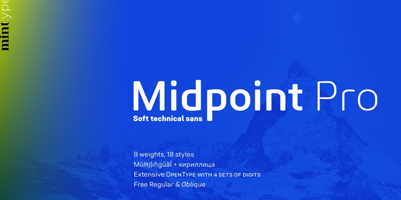 Download Midpoint Pro font (typeface)