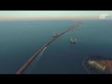 Крымский Мост с Высоты Птичьего Полета.Стройка от Тамани до Керчи!