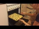 Как мы готовили пиццу🍕😍