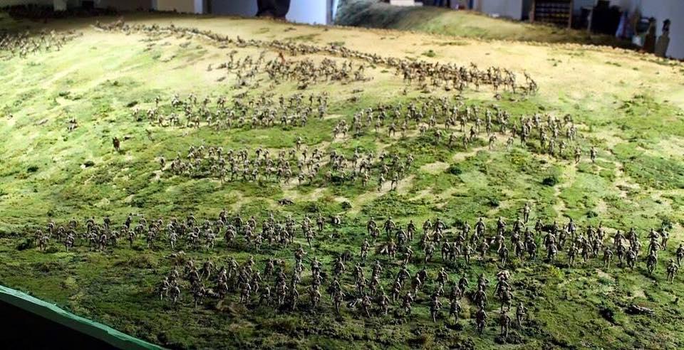 Диорама, посвящённая Дарданелльской операции. При постройке диорамы использованы 5000 миниатюр.