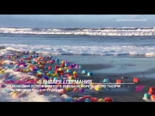На берег немецкого острова вынесло тысячи яиц с игрушками