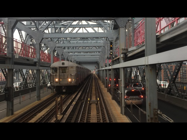 NYC Subway HD 60fps Budd R32 Z Skip-Stop Train Thunderstorm Railfan Window RFW Ride (72516)