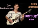 Don't Cry - Guns N'Roses - Solo Cover by Igor Liechtenstein