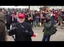 Trump supporters says FUCK YOU to protestors BlackLivesMatter DisruptJ20