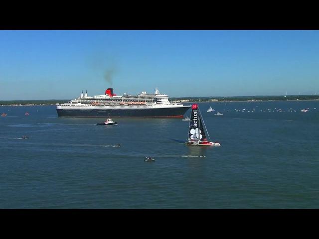 Top départ de The Bridge 2017, Queen Mary 2 vs Ultims