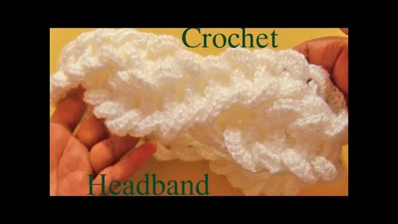 Como tejer una diadema a Crochet en punto de argollas gruesas - Learn Crochet