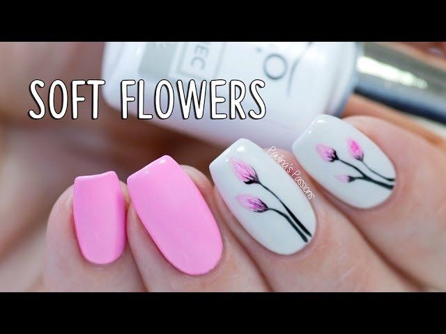 EASY GEL NAILS - Soft Flowers with Indigo Nails Arte Brillante