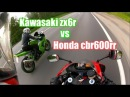 Honda cbr600rr 2008 vs Kawasaki ZX6R 2003 зацеп мотобудни