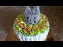 Торт КОТЁНОК в КОРЗИНЕ Торт с ТЮЛЬПАНАМИ Торт с цветами Украшение тортов Cake decorating
