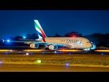Brand new Airbus 380 of Emirates Airlines-Departure