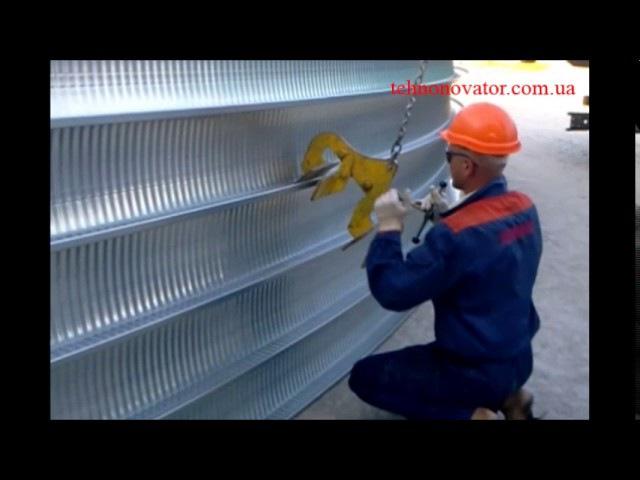 Строительство бескаркасных ангаров