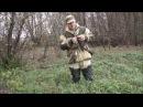 Первичная обработка битой утки на охоте.