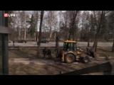 Снос зданий в Санкт-Петербурге на Крестовском острове к ЧМ-18