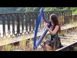 Marion Le Solliec Девушка красиво играет на арфе RIVER FLOWS IN YOU - Yiruma - harp ⁄ harpe ⁄ 하프